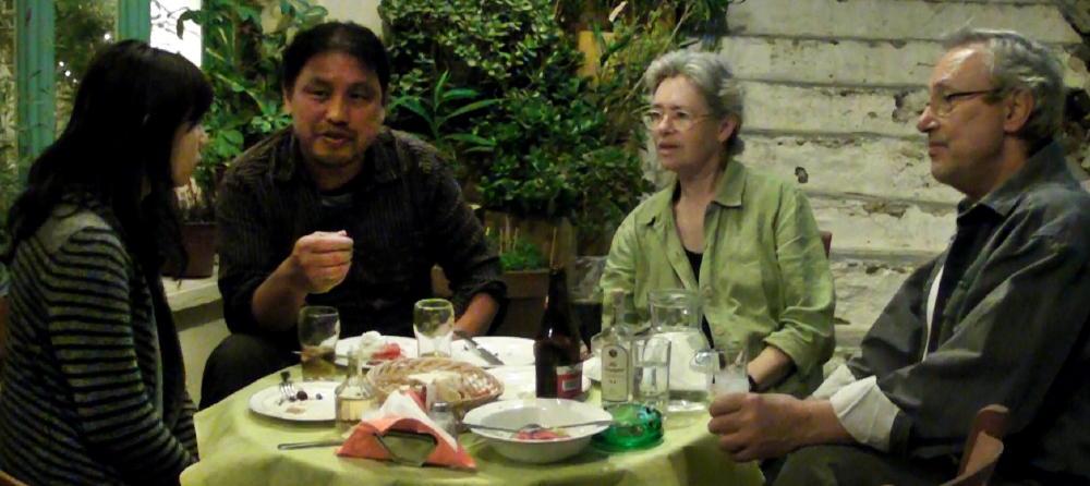 theo-eugene-bafaloukos-with-japanese-writer-2010